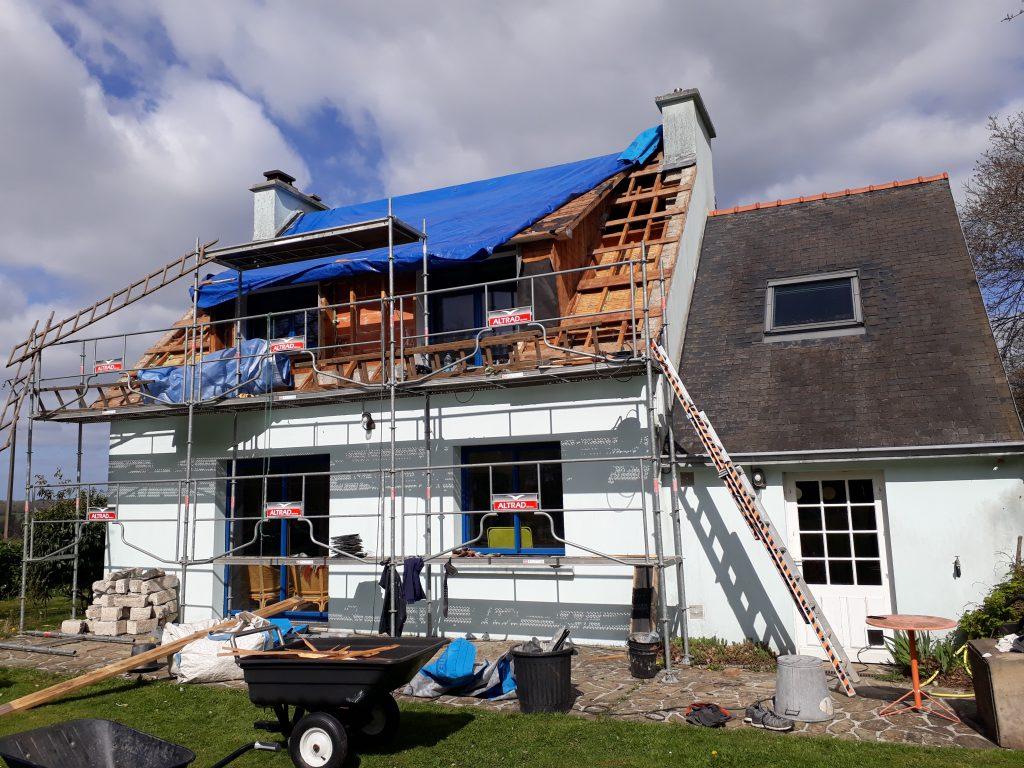 Forum Rénovation Habitat Plonéour : Visite chantier avce Réseau TYNEO