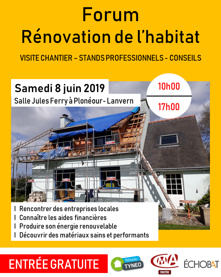 Forum rénovation habitat 8 juin 2019