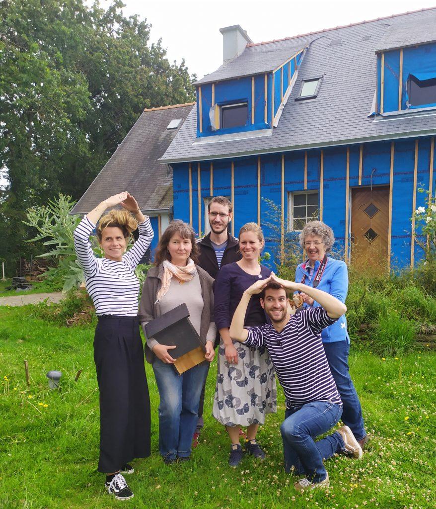 Un chantier accompagné par Réseau TYNEO sur la route du cyclo trip de Evan de Bretagne et Maud la baroudeuse culinaire